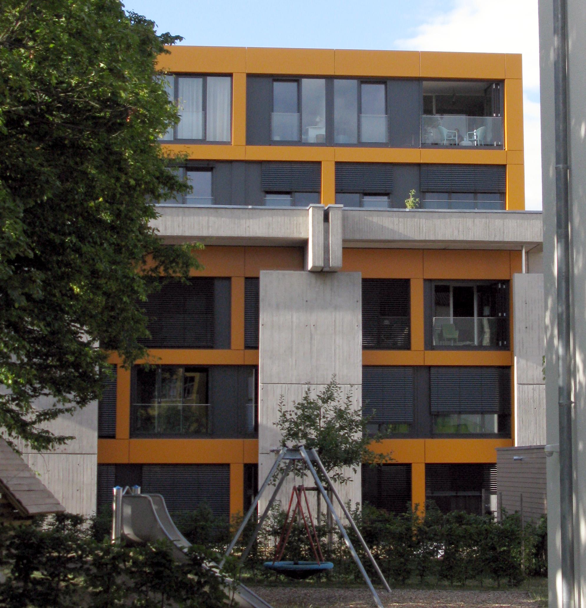 Zu Wohnungen umgebaute Kirche St. Elisabeth in Freiburg