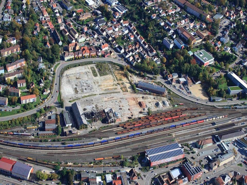 """Innenentwicklung durch Flächenrecycling: Neues Stadtquartier """"Stadtoval"""". Foto: Stadt Aalen"""
