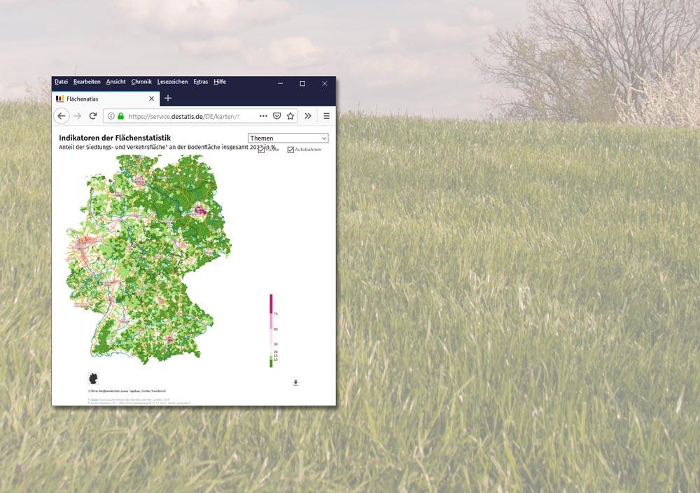 Online-Flächenatlas des Statistischen Bundesamts