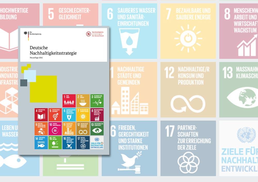 Deckblatt der Deutschen Nachhaltigkeitsstrategie - Neuauflage 2016