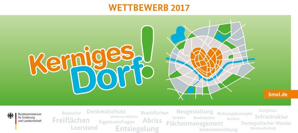 """Flyer zum Wettbewerb """"Kernige Dörfer"""" gesucht Copyright: BMEL/ASG"""