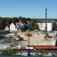 """Innenentwicklung durch Nachverdichtung - Wohn- und Dienstleistungsquartier """"Am Stadtgarten"""", vor der Bauphase"""