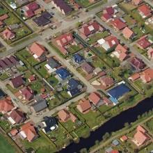 Einfamilienhaussiedlung (Luftbild)