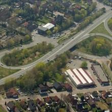 Luftbild Wohn- und Gewerbegebiet
