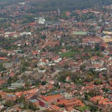 Luftbild einer Ortschaft