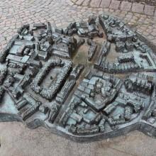 Blindenmodell der Innenstadt von Osnabrück