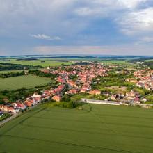 Luftbild des Ortsteils Westerhausen (Thale) am Harz