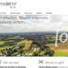 Screenshot des Flächenportals NRW