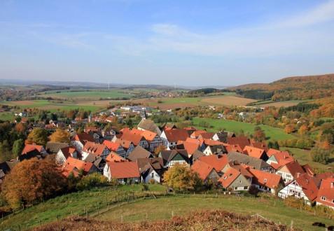 Luftbild eines Dorfes