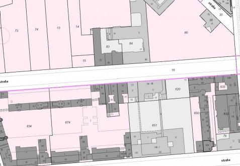 Kartenausschnitt aus dem Berliner Liegenschaftskataster