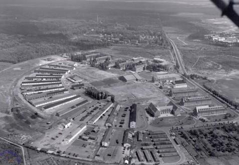 Luftbild Pionier-Kaserne Hanau-Wolfgang, 1950