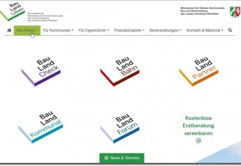 Internetseite BauLandLeben