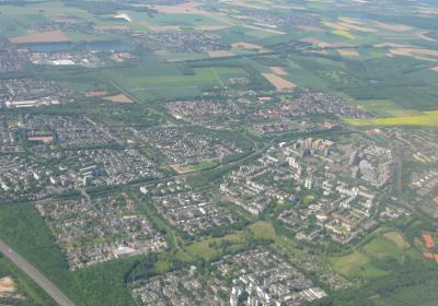 Luftbild: Siedlungsfläche in Deutschland